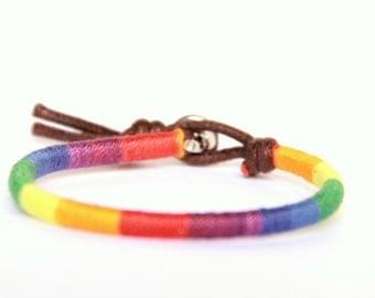 Woven Friendship Bracelet - Pride