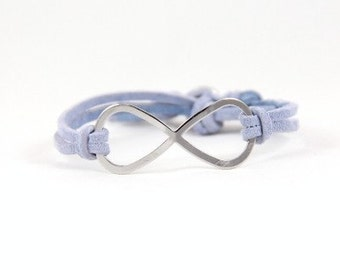 Infinity - Suede and Silver Rhinestone -- Choose Your Color
