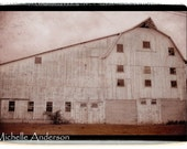 11 x 14 Vintage Barn farming Photograph