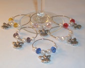 Angel Wineglass Charms - Free Shipping