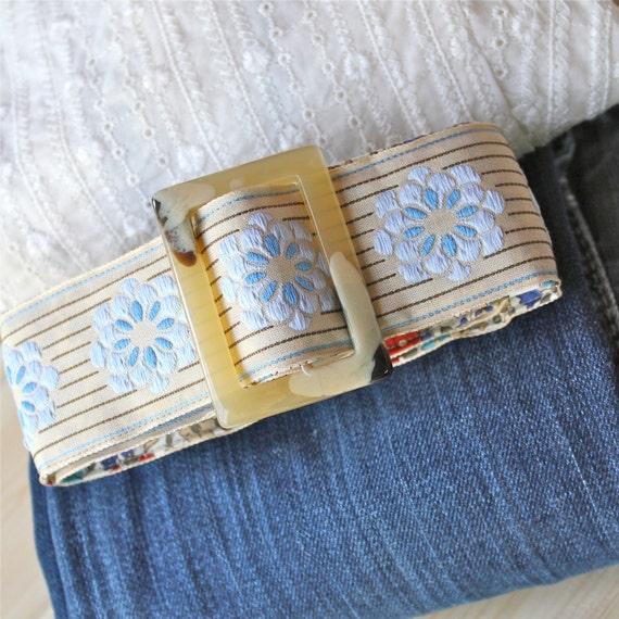 Natural Cotton Ribbon belt, a simple, modern ladies Belt