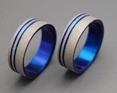 Titanium ring, wedding ring, titanium wedding ring, something blue, men's ring, women's ring – TO THE FUTURE ii