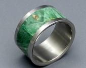 wedding rings, titanium rings, wood rings, mens rings, womens ring, Titanium Wedding Bands, Eco-Friendly Rings - AURORA BOREALIS
