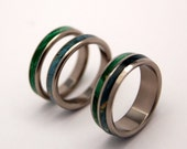 wedding rings, titanium rings, wood rings, mens rings, Titanium Wedding, Eco-Friendly Rings, Wedding Rings - TOGETHER and TOGETHER TRUE