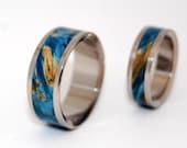 Wooden Wedding Rings, titanium ring, titanium wedding rings, Eco-friendly rings, mens ring, womens rings, wood rings - LOSE MY HEART