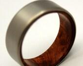 wedding rings, titanium rings, wood rings, mens rings, Titanium Wedding Bands, Eco-Friendly Rings, Wedding Rings - SANCTUM