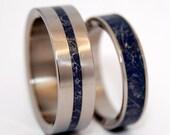 wedding rings, titanium rings, wood rings, mens rings, Titanium Wedding Bands, Eco-Friendly Wedding Rings - A LITTLE of you in ME
