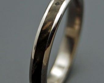 Wooden Wedding Rings, titanium wedding ring, titanium jewelry, anniversary ring, mens ring, womens ring, unique wedding rings - RUNAWAY II