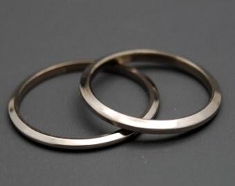 wedding rings, titanium rings, wood rings, mens rings, Titanium Wedding Bands, Eco-Friendly Rings, Wedding Rings - ULTRA THIN and SHINING