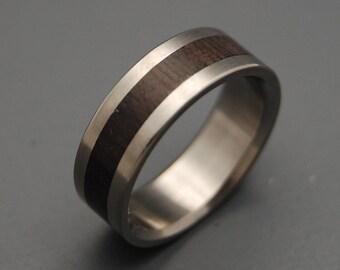 wedding rings, titanium rings, wood rings, mens rings, womens ring, Titanium Wedding Bands, Eco-Friendly Rings - SUPER LOVE