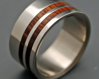 wedding rings, titanium rings, wood rings, mens rings, Titanium Wedding Bands, Eco-Friendly Rings, Wedding Rings - QUICKEN MY SENSES