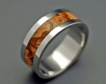 Titanium wedding ring, wedding band, wooden wedding ring, men's ring, woman's ring, maple wood, titanium ring - FOR the LOVE of MAPLE