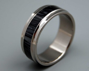Black rings, Titanium wedding ring, resin ring, unique rings, men's ring, women's ring, commitment ring, titanium rings - PAPARAZZI