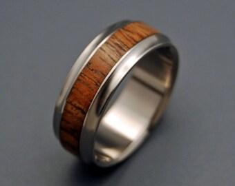 wedding rings, titanium rings, wood rings, mens rings, womens ring, Titanium Wedding Bands, Eco-Friendly Rings - MAU LOA