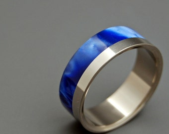 wedding rings, titanium rings, wood rings, mens rings, Titanium Wedding Bands, Eco-Friendly Wedding Rings, Wedding Rings - I PROMISE