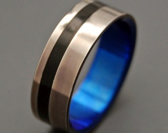 Titanium wedding ring, wedding ring, titaniun rings, mens ring, womens rings, eco-friendly - HEATHCLIFF