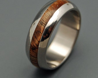 Wooden Wedding Rings, Mens Ring, Womens Ring, Titanium Rings, Eco-Friendly, Unique Wedding Rings - MAHALO