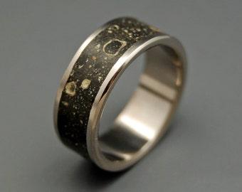 Titanium Concrete Wedding Ring, Unique Wedding Ring, Mens Rings, Womens Rings, Eco-Friendly Rings - CONCRESCO
