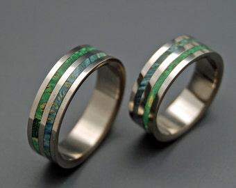 wedding rings, titanium rings, wood rings, mens rings, womens ring, Titanium Wedding Bands, Eco-Friendly Rings - JUNGLE VINES