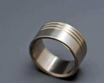 Titanium wedding rings, unique wedding rings, earth-friendly rings, minter and richter designs, - CONCERTO