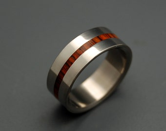 wedding rings, titanium rings, wood rings, mens rings, Titanium Wedding Bands, Eco-Friendly Rings, Wedding Rings - WHEN LIGHTNING STRIKES