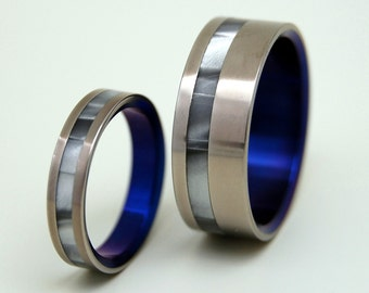Titanium wedding rings, his ring, her ring, wedding rings, titanium jewelry, unique rings, when you ENTERED THE ROOM