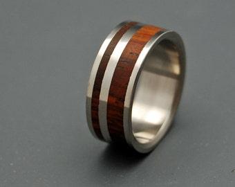 wedding ring, titanium rings, wood rings titanium wedding ring, men's ring, women's ring - BARREL OVER NIAGARA