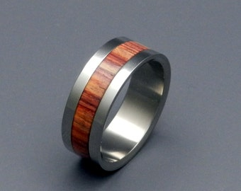 wedding rings, titanium rings, wood rings, mens rings, Titanium Wedding Bands, Eco-Friendly Rings, Wedding Rings - TULIP