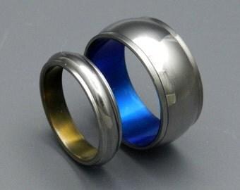 wedding rings, titanium rings, wood rings, mens rings, womens ring, Titanium Wedding Bands, Eco-Friendly Rings - LOVE'S HARMONY