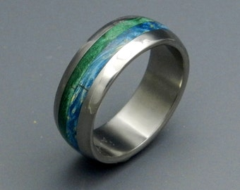 Wooden Wedding Rings, titanium ring, titanium wedding rings, Eco-friendly rings, mens ring, womens rings, wood rings - BLISS