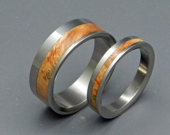 wedding rings, titanium rings, wood rings, mens rings, Titanium Wedding Bands, Eco-Friendly Wedding Rings, Wedding Rings - HEARTFELT