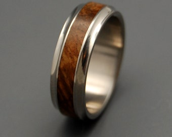 Wooden Wedding Rings, Titanium wedding ring, wedding band, wooden ring, men's ring, woman's ring, titanium ring - WINDHAM