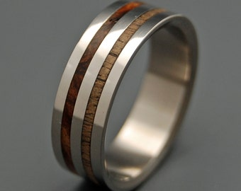 Wooden Wedding Rings, Unique Wedding Rings, Mens Rings, Womens Rings, Eco-Friendly Wedding Rings - THE HARVEST