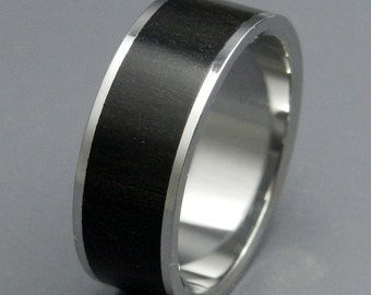 wedding rings, titanium rings, wood rings, mens rings, womens ring, Titanium Wedding Bands, Eco-Friendly Rings - ECLIPSE