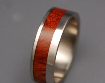 Wooden Wedding Rings, Titanium Wedding Band, wedding rings, titanium rings, men's rings, women's rings, wood rings - TUDOR