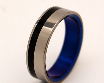 Titanium rings, wedding rings, titanium wedding rings, eco-friendly rings, mens ring, women's ring - HEATHCLIFF