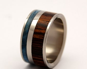 Wooden Wedding Rings, titanium ring, titanium wedding rings, Eco-friendly rings, mens ring, womens rings, wood rings - EARTH BY WATER