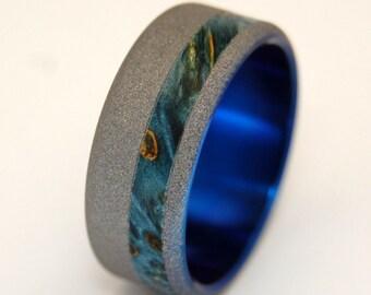 wedding rings, titanium rings, wood rings, mens rings, Titanium Wedding Bands, Eco-Friendly Rings, Wedding Rings - AMORE