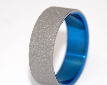 Titanium Wedding Bands, wedding rings, titanium rings, something blue, men's rings, women's rings, commitment bands - STARFISH