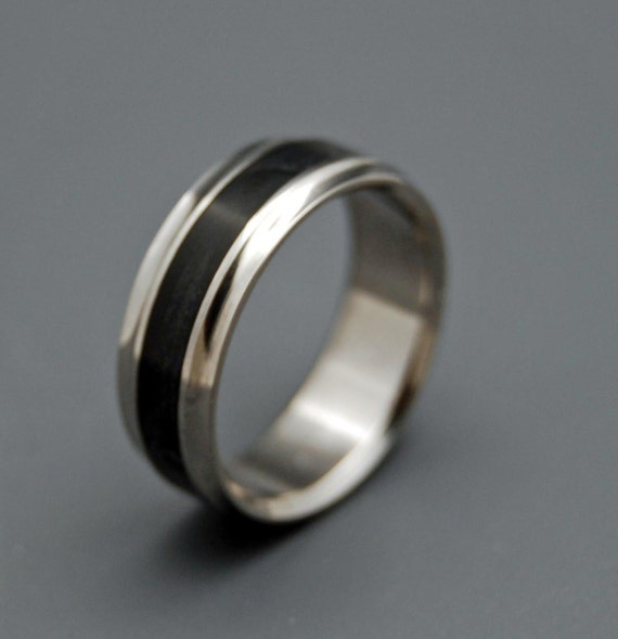 Titanium rings, wedding rings, titanium wedding rings, eco-friendly rings, mens ring, women's ring - BLACK BEAUTY