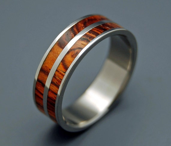 wedding rings, titanium rings, wood rings, mens rings, Titanium Wedding Bands, Eco-Friendly Rings, Wedding Rings - BY MY SIDE