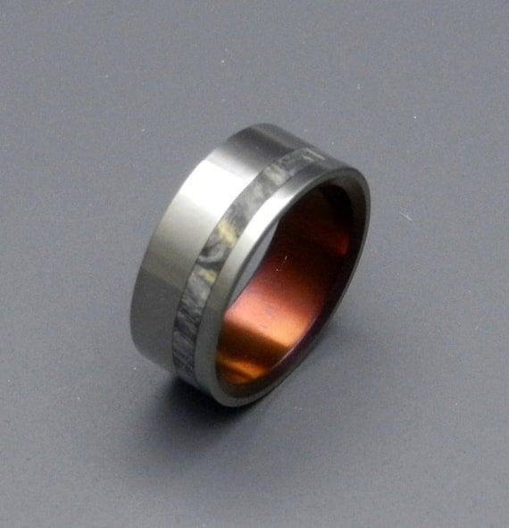 Titanium Wedding Rings, Mens Ring, Womens Ring, Wood Ring, Eco-Friendly, California Buckeye wood ring, Unique Wedding Ring - SHASTA