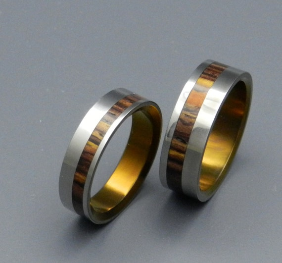 Wooden Ring, Titanium Wedding Ring, Men's Ring, Women's Ring, Unique Wedding Ring, Commitment Ring, Engagement Ring - LOVEBUZZ