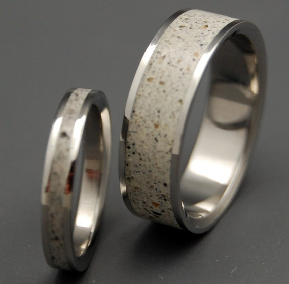 wedding rings, titanium rings, wood rings, mens rings, womens ring, Titanium Wedding Bands, Eco-Friendly Rings - BED ROCK BEAUTY