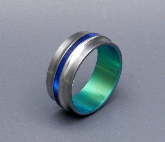 Titanium Wedding Ring, Mens Rings, Womens Rings, Eco-Friendly Wedding Ring, Unique Wedding Rings - COPERNICUS