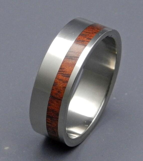 Wooden Wedding Rings, Titanium wedding ring, wedding band, wooden ring, men's ring, woman's ring, titanium ring - DAUPHIN