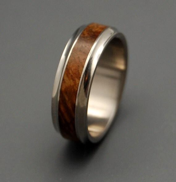Wooden Wedding Rings, Titanium wedding ring, wedding band, wooden ring, men's ring, woman's ring, titanium ring - WINDHAM