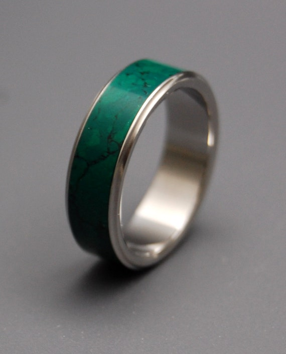 Wedding Rings, Engagement Rings, Titanium Rings, Jade Rings, Mens Ring, Womens Ring, Eco-Friendly, Unique Rings - STONE OF HEAVEN