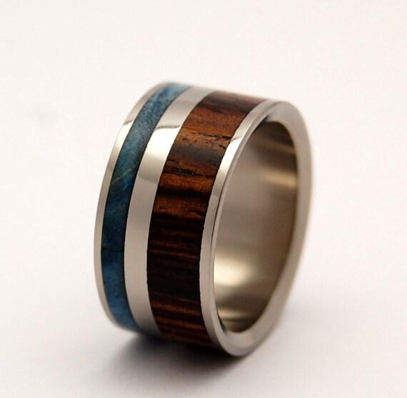 Wooden Wedding Rings, titanium ring, titanium wedding rings, Eco-friendly rings, mens ring, womens rings, wood rings - EARTH BY WATER