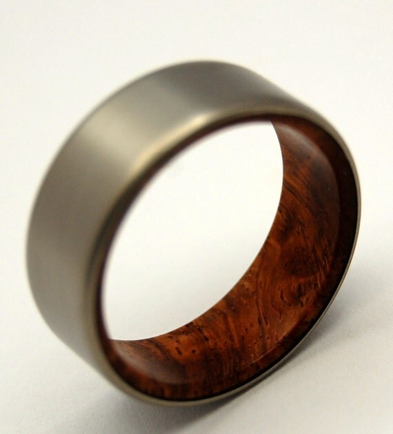 wedding rings, titanium rings, wood rings, mens rings, Titanium Wedding Bands, Eco-Friendly Rings, Wedding Rings - SANCTUM